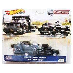 Hot Wheels Team Transport:1966 Super Nova & Retro Rig (スーパー・ノヴァ)(ブラック) grease-shop