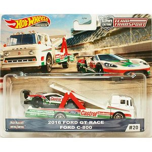 Hot Wheels Team Transport:2016 Ford GT Race / Ford...