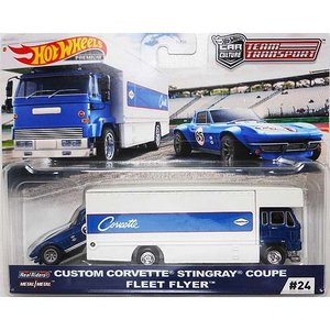 Hot Wheels Team Transport:Custom Corvette Stingray...