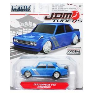 Jada Toys 1/64 : 1973 Nissan 510(WideBody) (ニッサン・510)(ブルー)|grease-shop