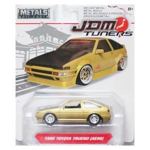 Jada Toys 1/64 : 1986 Toyota Trueno(AE86)(トヨタ・トレノ)(ゴールド/ブラック)|grease-shop