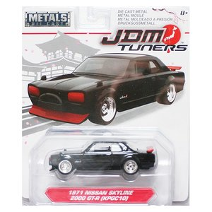 Jada Toys 1/64 : 1971 Nissan Skyline 2000 GT-R(KPGC10)(ニッサン・スカイライン 2000 GT-R)(ブラック/レッド)|grease-shop