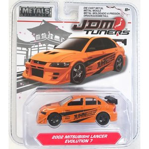 Jada Toys 1/64 : 2002 Mitsubishi Lancer Evolution 7 (ミツビシ・ランサー・エボリューション7)(オレンジ)|grease-shop