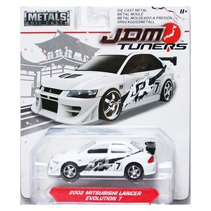 Jada Toys 1/64 : 2002 Mitsubishi Lancer Evolution 7 (ミツビシ・ランサー・エボリューション7)(ホワイト/ブラック)|grease-shop