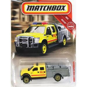 matchbox:フォード・F-550・スーパーデューティ(Ford F-550 Super Duty)(イエロー/シルバー)|grease-shop