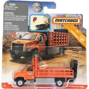 matchbox working rigs:GMC・3500・アッテネータートラック(GMC 3500 Attenuator Truck)(オレンジ)|grease-shop