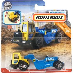 matchbox working rigs:ロード・スクレイパー(Road Scraper)(イエロー/ブルー)|grease-shop