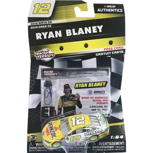 NASCAR 1/64:Ryan Blaney #12 Ford 2018 - Charlotte Roval Win  (イエロー/ホワイト)|grease-shop