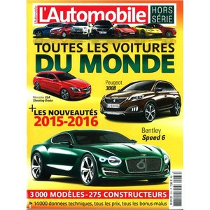 洋書:L'Automobile Hors Serie:Toutes les Voitures du Monde 2015-16|grease-shop