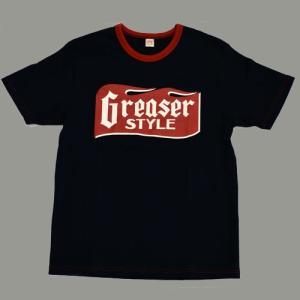 Tシャツ 半袖 GREASER STYLE  SHORT SLEEVE T−SHIRT ブラック|greasykids