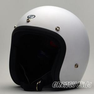 ハーレー用 ジェットヘルメット 立花 タチバナ SHM BOY  GREASYKIDS Limited Edition  マットホワイト|greasykids