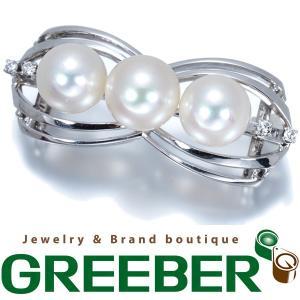 TASAKI タサキ 帯留め アコヤ真珠 パール ダイヤ ダイヤモンド K14WGBLJ/GENJ|greeber01
