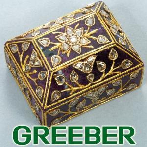 ダイヤ ダイヤモンド ルビーインゾイサイト 小物入れ ケース YG GENJ 超大幅値下げ品|greeber01