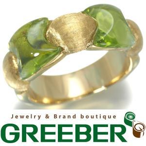 マルコ ビチェゴ 指輪 ペリドット K18YG 13号 BLJ/GENJ  超大幅値下げ品|greeber01