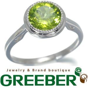ペリドット 1.70ct リング 指輪 ペリドット K14WGBLJ/GENJ|greeber01