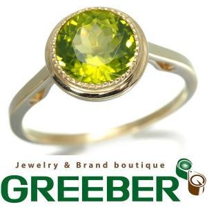 ペリドット リング 指輪 K14YG 11号GENJ|greeber01