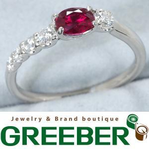 上質 ルビー 0.57ct ダイヤ ダイヤモンド 0.25ct 指輪 Pt900/プラチナ 鑑別書 GENJ    限界値下げ品 greeber01