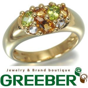 ルジアダ 指輪 ペリドット シトリン トパーズ K18YG 11号 BLJ/GENJ 超大幅値下げ品|greeber01