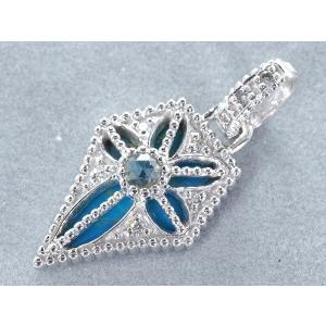 ダイヤ ダイヤモンド 0.20ct ターコイズ トルコ石 ペンダントトップ K18WG GENJ  限界値下げ品|greeber01