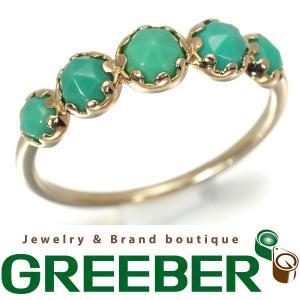 アガット リング 指輪 ターコイズ トルコ石 K10YG 9号 BLJ/GENJ|greeber01