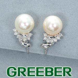 アコヤ真珠 パール ダイヤ ダイヤモンド イヤリング Pt850/プラチナ GENJ|greeber01