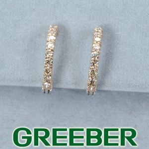 ダイヤ ダイヤモンド 0.19ct/0.19ct イヤリング K18WG/PG GENJ|greeber01