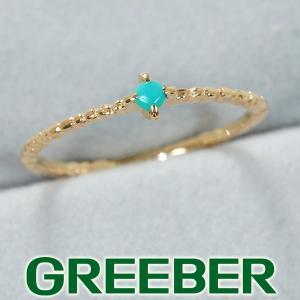 クロチェ リング 指輪 ターコイズ トルコ石  ピンキーリング 指輪 5号 K10YG BLJ/GENJ|greeber01