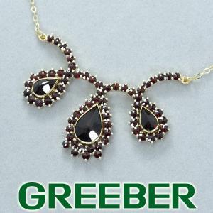 ガーネット ネックレス K14YG GENJ 超大幅値下げ品 greeber01