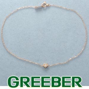 4℃ ヨンドシー アンクレット ダイヤ ダイヤモンド ハート K10PG BLJ/GENJ|greeber01