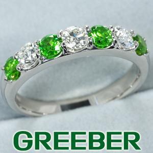 デマントイドガーネット 0.624ct ダイヤ ダイヤモンド 0.51ct リング 指輪 Pt900/プラチナ GENJ 超大幅値下げ品 greeber01