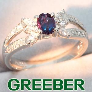 上質 アレキサンドライト 0.39ct ダイヤ ダイヤモンド 0.27ct リング 指輪 Pt900/プラチナ GENJ 超大幅値下げ品|greeber01
