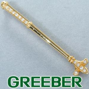 タサキ ブローチ ダイヤ ダイヤモンド 0.14ct K18YG BLJ/GENJ|greeber01