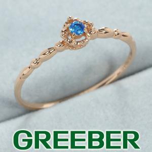 アウイナイト 0.02ct リング 指輪 K18PG GENJ 超大幅値下げ品|greeber01