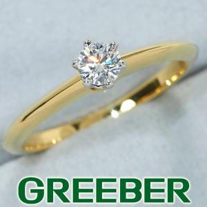 ティファニー リング 指輪 ダイヤ ダイヤモンド 0.192ct ソリティア 11号 K18YG/Pt950/プラチナ BLJ|greeber01