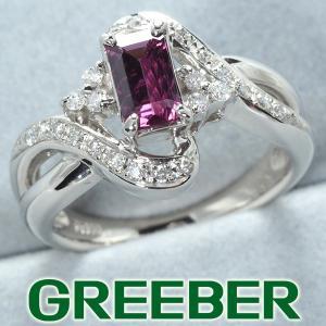 ロードライトガーネット 0.86ct ダイヤ ダイヤモンド 0.22ct リング 指輪 Pt900/プラチナ GENJ 超大幅値下げ品|greeber01