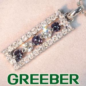 アレキサンドライト 0.25ct ダイヤ ダイヤモンド 0.50ct ネックレス Pt900/Pt850/プラチナ 鑑別書 GENJ 超大幅値下げ品|greeber01