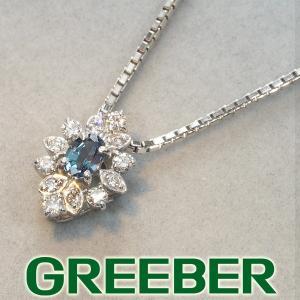 アレキサンドライト 0.15ct ダイヤ ダイヤモンド 0.14ct ネックレス K18WG 保証書 BLJ/GENJ超大幅値下げ品|greeber01