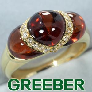 ガーネット ダイヤ ダイヤモンド 0.20ct リング 指輪 K18YG GENJ greeber01