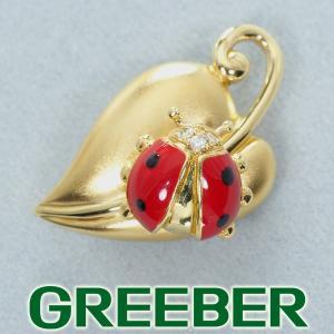 ウォルサム ブローチ ダイヤ ダイヤモンド テントウ虫 K18YG BLJ/GENJ|greeber01