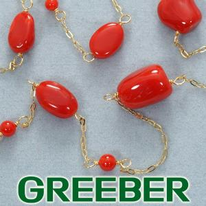 QVC ネックレス 珊瑚 サンゴ K18YG 保証書 BLJ/GENJ超大幅値下げ品|greeber01