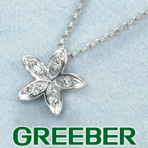 TASAKI タサキ ネックレス ダイヤ ダイヤモンド フラワー K18WG BLJ/GENJ greeber01