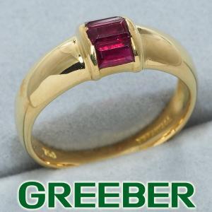 ティファニー リング 指輪 ルビー スタッキングバンド 10号 K18YG BLJ|greeber01