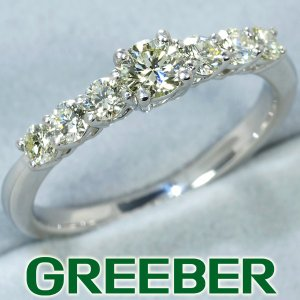 QVC リング 指輪 ダイヤ ダイヤモンド 0.60ct Pt1000/プラチナ 保証書 BLJ/GENJ|greeber01