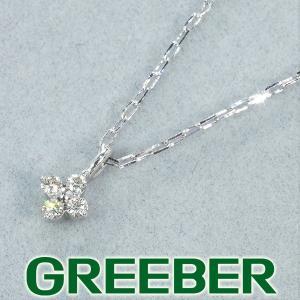 4℃ ネックレス ダイヤ ダイヤモンド K10WG 保証書/箱 BLJ/GENJ greeber01