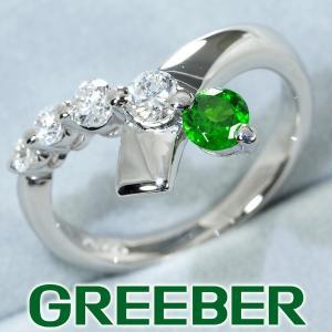 デマントイドガーネット 0.23ct ダイヤ ダイヤモンド 0.32ct リング 指輪 Pt900/プラチナ ソーティング GENJ greeber01