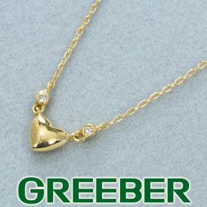 アーカー ネックレス ダイヤ ダイヤモンド ハート K18YG BLJ greeber01