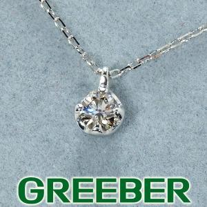 ダイヤ ダイヤモンド 0.10ct ネックレス K10WG GENJ greeber01