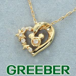 4℃ ヨンドシー ネックレス ダイヤ ダイヤモンド ディズニー ミッキー ハート K10YG BLJ/GENJ greeber01