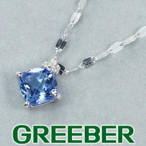 タンザナイト 1.00ct ダイヤ ダイヤモンド ネックレス K18WG GENJ greeber01