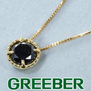 ブラックダイヤ ダイヤモンド 1ct程 ネックレス K18YG GENJ greeber01